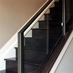 Bronze Glass Railing