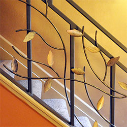 Copper Vine Mission Asian Railing