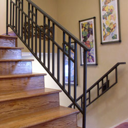 Elegant Iron Studios Custom Ornamental Metalwork Modern Railing And Stairs Stainless Steel And Glass Cincinnati Dayton And Columbus Ohio