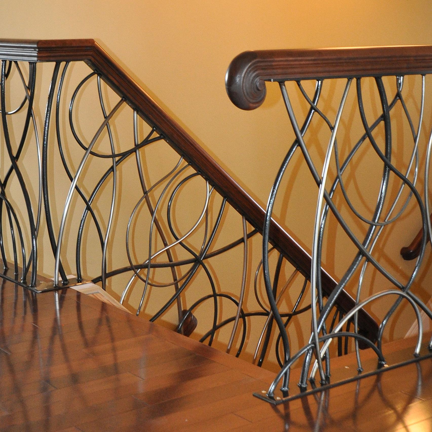 Ideas 19 Modern And Elegant Stair Design Ideas To: Custom Ornamental Metalwork
