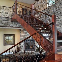 Elegant Iron Studios Custom Ornamental Metalwork Modern Railing And Stairs Stainless Steel